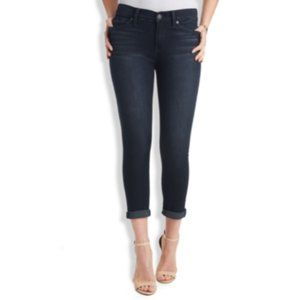 Lucky Brand Brooke Crop Denim Jeans Dark Blue 26